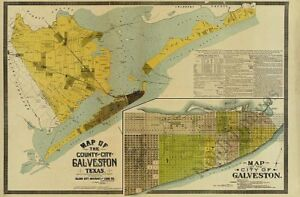 Panoramic map of Denison TX c1891 repro 36x24