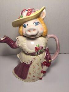 Vintage-Sigma-TasteSetter-Jim-Henson-039-s-Muppets-MISS-PIGGY-10-034-Teapot-W-lid-Japan