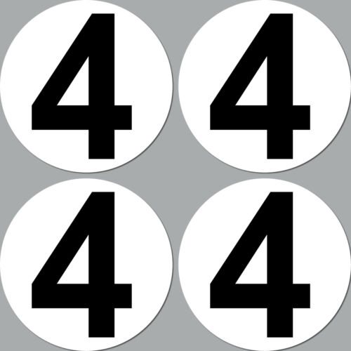 4 Autocollant 10cm Sticker Dossard Racing Numéro Nr Auto Moto Kart Sport