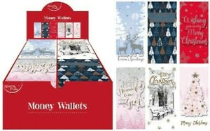 Single-Cute-Luxury-Comtemporary-3D-Christmas-Money-Voucher-Cards-Wallets-Xmas
