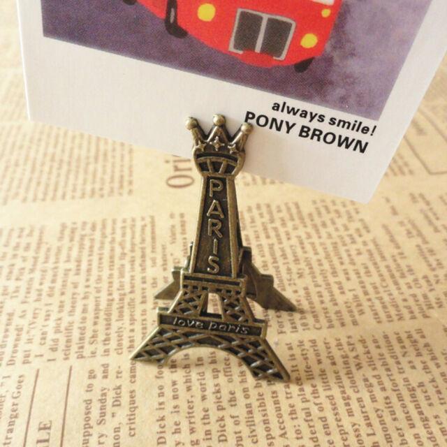 Eiffel Tower Decor Photo Memo Clip Stand Display Holder Card Hom 5.6*3.3 cm NT