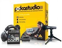 Podcast Studio Kit, Audio Recording Music Equipment Usb Pc Accessories