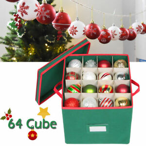 Christmas Ornament Storage.Details About Christmas Ball Ornament Storage Chest Box Xmas Decor Kid Toy Organizer Container
