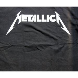 Metallica-Logo-Men-039-s-T-Shirt-Black-tee