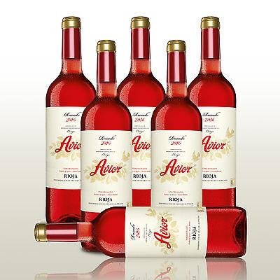 6 Fl. Avior Rosado 2016, Rose-Wein, Rosé Spanien, Sommerrosado aus der Rioja!