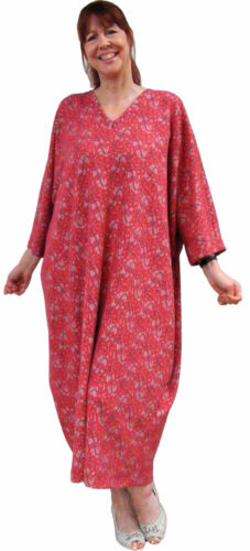 Kaftan Krazy UK Kaftans in Ponte-Roma Italian Jersey fabric Plus-size Soft red