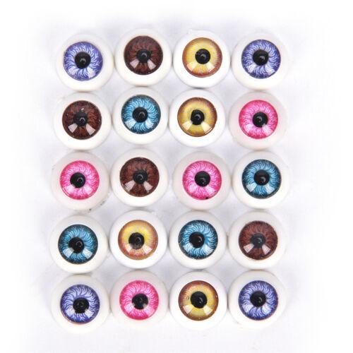5Pair Plastic Half Round For Halloweens Mask Doll Eyes Fake Masks Eyeballs RS