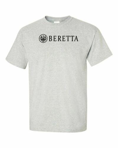 Beretta Script Black Logo T Shirt 2nd Amendment Pro Gun Rights Rifle Pistol New