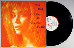 "Paula Abdul - The Way That You Love Me (1988) Vinyl 12"" Single • IMPORT"