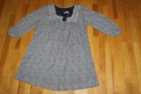 French Connection Maternity Blue White Cotton Shift Dress Plus Size 16