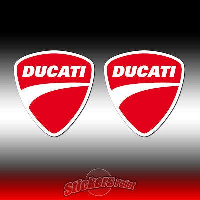 all models 4 Adesivi DUCATI stickers scudetto new logo MOTO GP  scudo