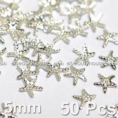 50 Pcs 3D Nail Art Decoration Sea Star Alloy Jewelry Glitter Rhinestone EG-166A