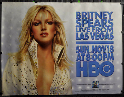 Britney Spears Live From Las Vegas 2001 Original 46x60 Hbo Subway Poster Ebay