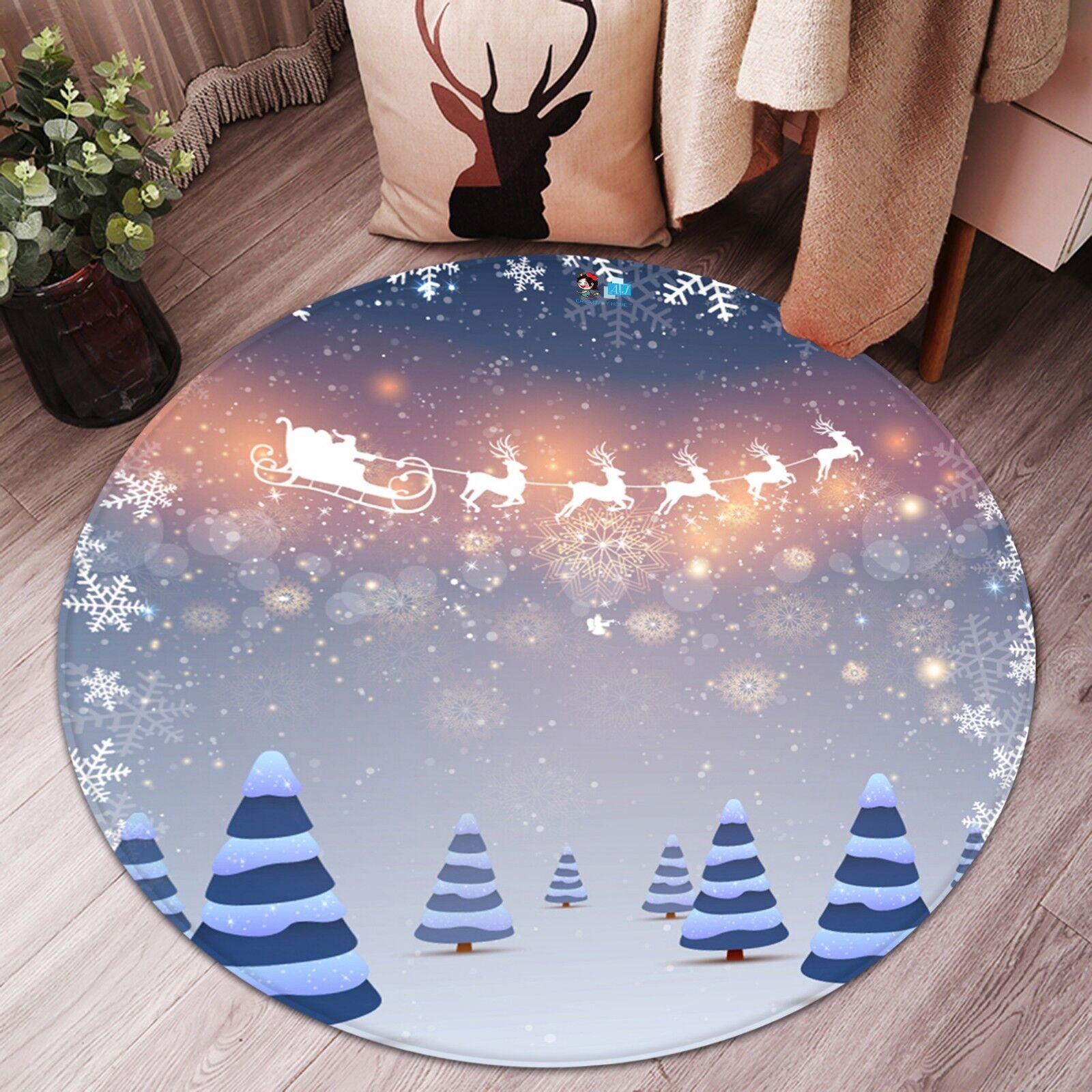 3d navidad Xmas 702 antideslizante alfombra maletero rondas elegante alfombra de