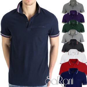 Polo-Uomo-LOTTO-Sport-Cotone-Righe-Maniche-Corte-T-Shirt-Vari-Colori-SARANI
