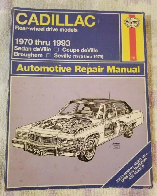 Sell Cadillac Haynes Repair Manual 1970 Manual Guide