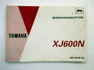 Yamaha-XJ600N-Motorrad-Bedienungsanleitung-Betriebsanleitung-1993