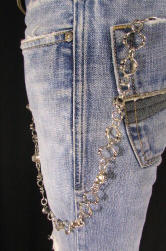 New Wallet Fashion Extra Long Silver Metal Key Chain Skeleton Rings Skull Rocker