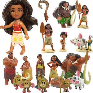 Disney-Moana-Figures-Cake-Topper-Maui-Figurines-Kids-Children-Play-Set-Toy-Gift
