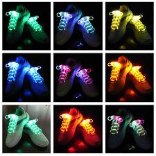 LED Shoelaces Shoe Laces Flash Light Up Glow Stick Strap Shoelaces Fiber Optic