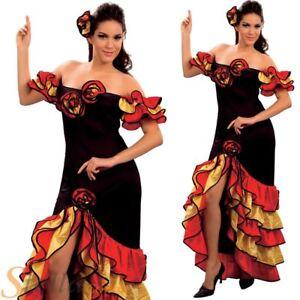Femmes Rumba Flamenco Espagnol Danseur Fete Salsa Enfants Costume