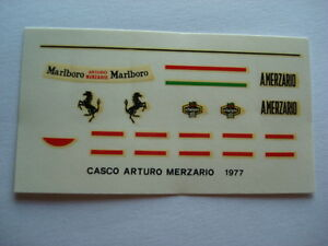 DECALS-KIT-1-12-HELMET-CASCO-ARTURO-MERZARIO-ALFA-ROMEO-FERRARI-F1-NEW-DECAL