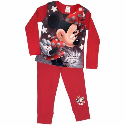 98-140 Kinder Schlafanzug Kinderpyjama Mädchen Disney Minnie Maus 4-10 Jahre Gr