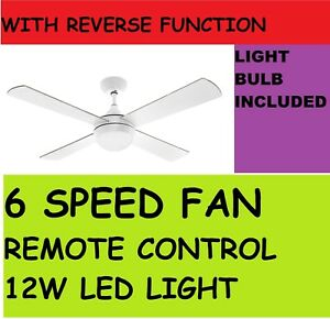 Image Is Loading Arlec 120cm White Columbus Ceiling Fan With Led