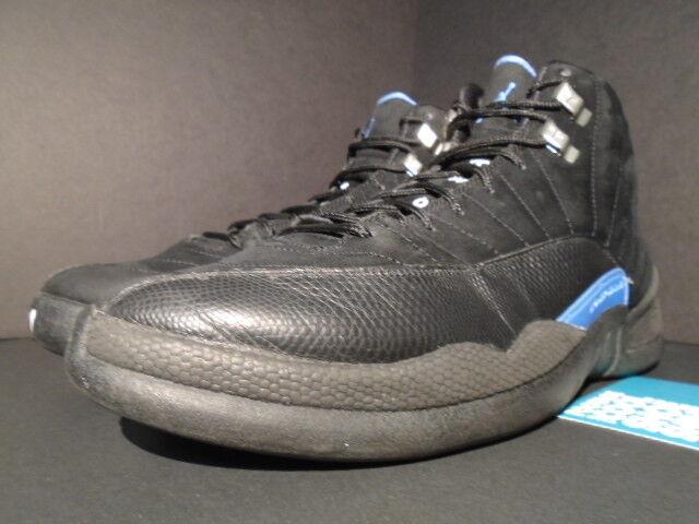 2009 nike air jordan xii schwarz 12 retro - nubuck schwarz xii - weiß - blau 130690-018 unc gezüchtet. 31dcc1