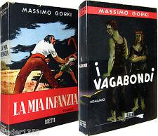 lotto 2 libri di GORKI la mia infanzia BIETTI 1957 + i vagabondi BIETTI 1955