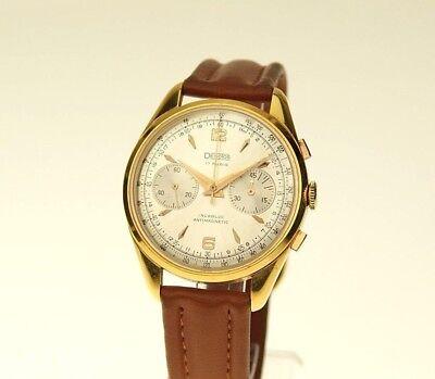 Rare 18 ct. GOLD Chronograph Uhr Armbanduhr Herren Uhren