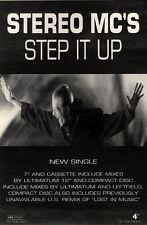 "28/11/92PGN24 STEREO MC'S : STEP IT UP SINGLE ADVERT 10X7"""