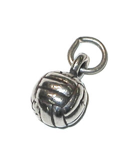 STERLING-SILVER-Mini-CHARM-Sports-Solid-3D-VOLLEYBALL