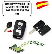 LLAVE FUNDA CARCASA BMW 3 5 7 Serie X3 X5 E46 E38 E39 E60 E61 E53 E83 KIT FLIP