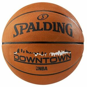 Spalding-Downtown-Outdoor-Basketball-Size-7-Adult-Tan-Basket-Ball-Rubber-Train