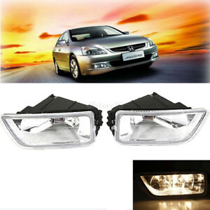 Pair Front Bumper Fog Lights H11 Bulb Lamp Kits For Honda Accord Acura 2003-2007