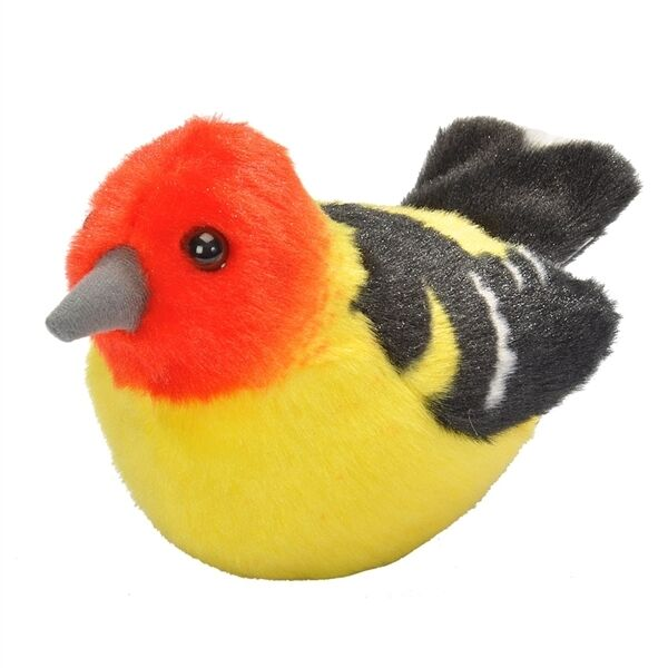 Wild Republic Audubon Stuffed Western Tanager With Real Bird Sound
