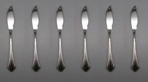 SET-OF-SIX-Oneida-Stainless-Flatware-FALKIRK-Fish-Knives