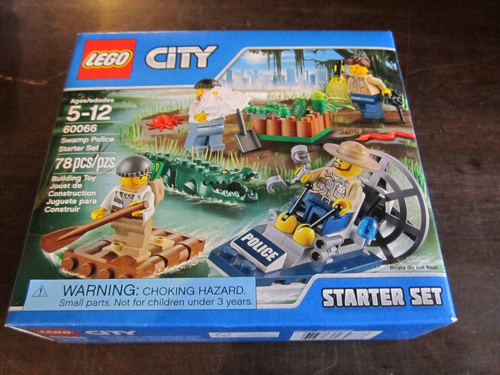 LEGO City new 60066 Swamp Police Starter Set Police Croc Building Toy sled dogs