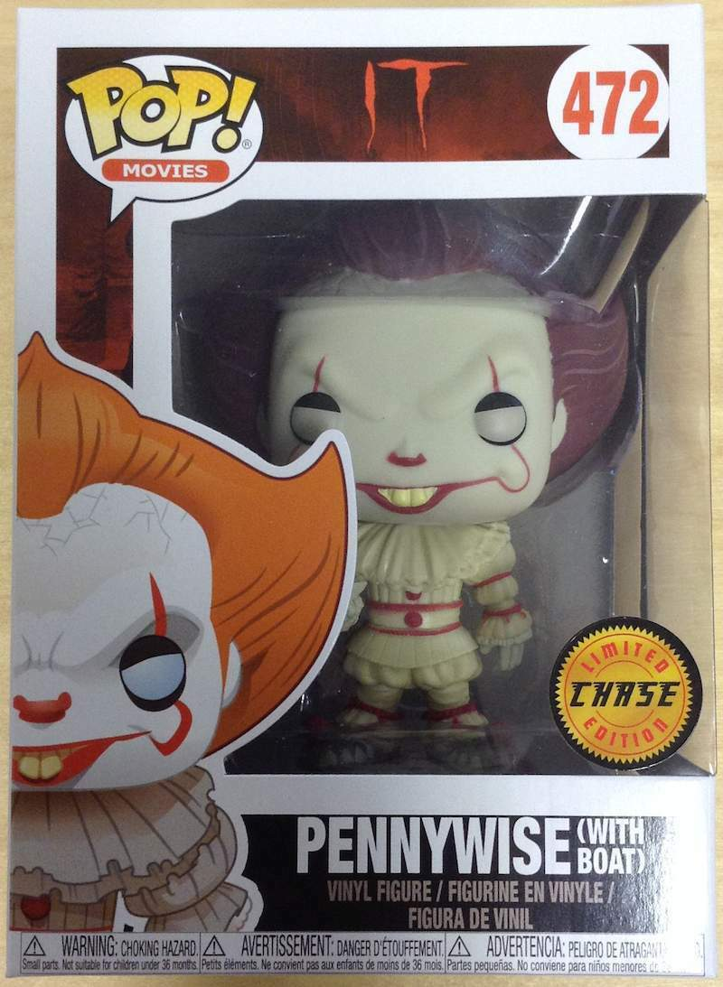 It (2017) - Pennywise (with Boat) Pop  Vinyl Figure NEW Funko rare CHASE EDITION