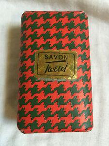 Vintage-1970s-SAVON-TWEED-74g-Soap-Bar