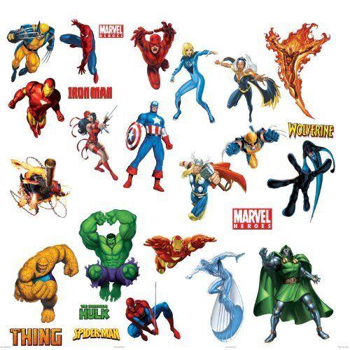 Fantastic Four Fathead Dr Doom Human Torch Thing Marvel Comics Disney NEW 96013