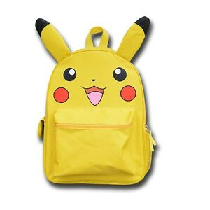 41f57fe6de86 Unisex Pokemon Go Pikachu Bag Large School Backpack with Ear Book ...