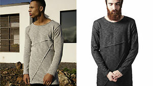 URBAN CLASSICS Men's sweater Long Fashion Long Terry Crew TB1246