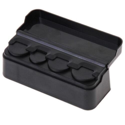Moneda de almacenamiento de información interior coche Auto Case Box Holder Contenedor Organizador Herramientas Negro Z
