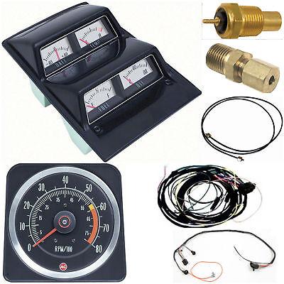 oer 1969 camaro console gauges w wiring \u0026 tach 6000 mt 69 ebay