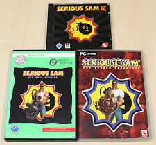 3 PC SPIELE SAMMLUNG - SERIOUS SAM FIRST & SECOND ENCOUNTER & SERIOUS SAM II 2