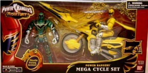 Power Rangers Mystic Force  5  vert et 5  jaune Ranger W Speeder cycle 2006 NEUF  boutique en ligne