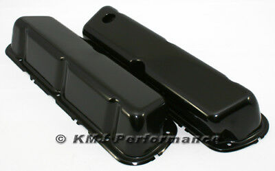 CHROME STEEL 1986-95 FORD 302 5.0L FOX-BODY MUSTANG VALVE COVERS SMOOTH