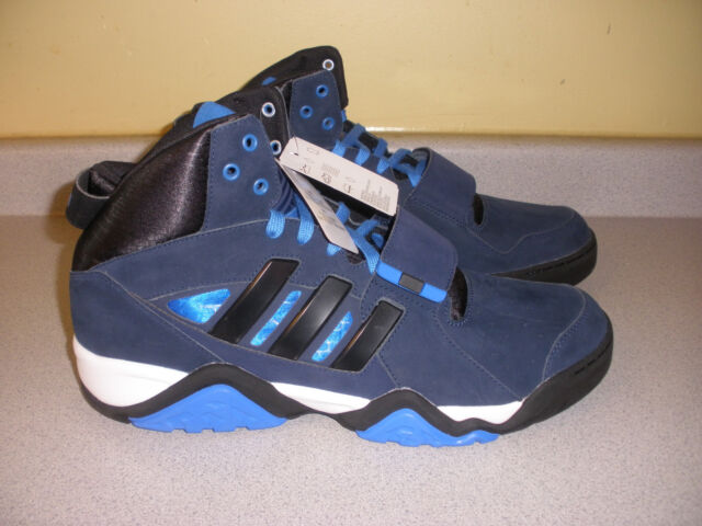 eee6c94a80f9 NWT MEN S ADIDAS STREETBALL 1.5 ORIGINALS BLUE BLACK SUEDE HIGH TOP SHOES  US 16